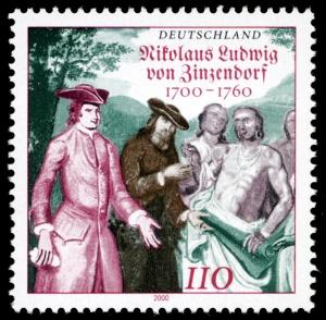 Stamp_Germany_2000_MiNr2115_Nikolaus_Ludwig_von_Zinzendorf